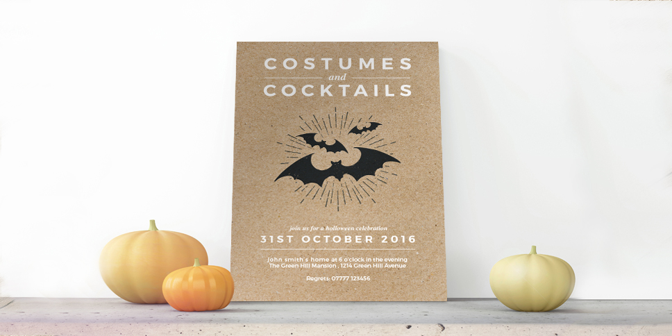 Halloween Invites - A5 & Square