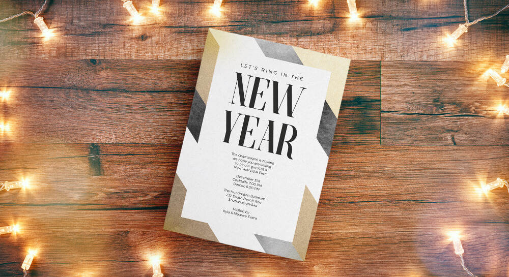 New Year Invites - A5 & Square