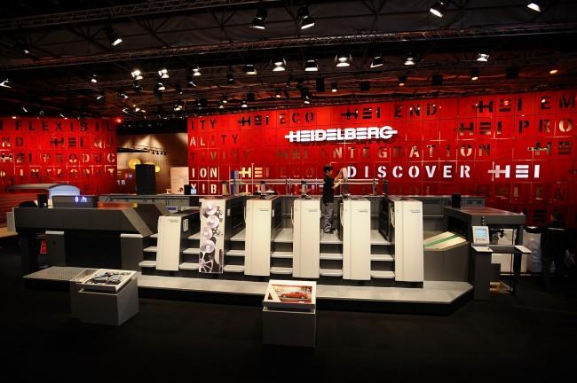 Heidelberg Speedmaster XL 75 litho offset printing press at Drupa 2012