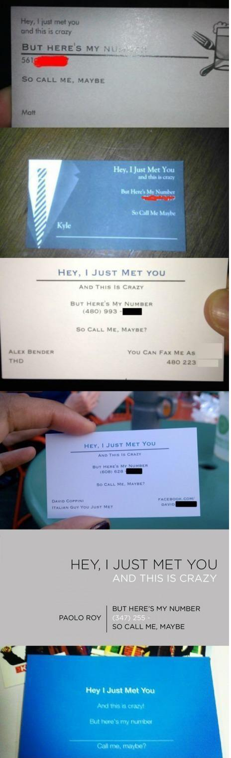 Kiss FM radio song lyric business cards in the Solopress Funny Friday blog