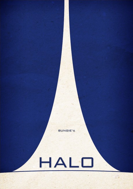 Solopress Design Insight Halo minimalist video game poster