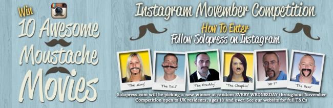 Solopress staff moustache it up