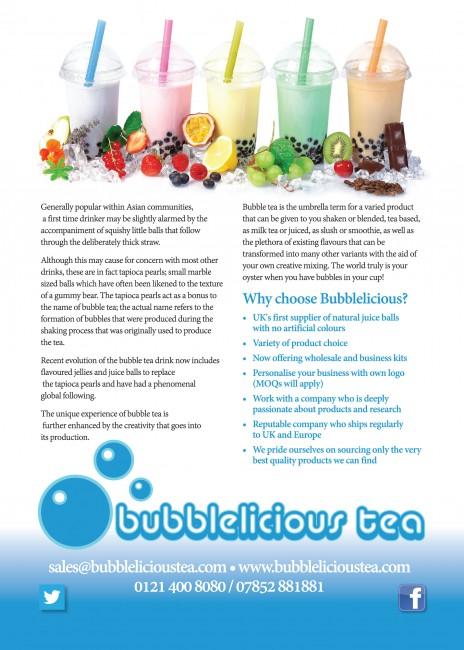 Bubblelicious Tea leaflets gloss A5 back