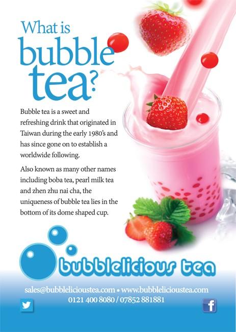 Bubblelicious Tea leaflets gloss A5 front