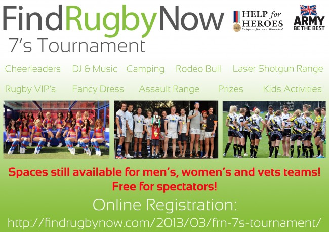Find Rugby Now London 7s tournament leaflet back