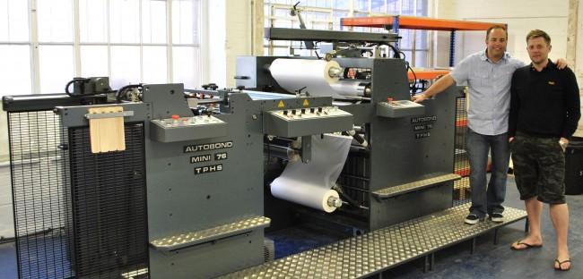 Solopress Autobond laminator wideshot photograph