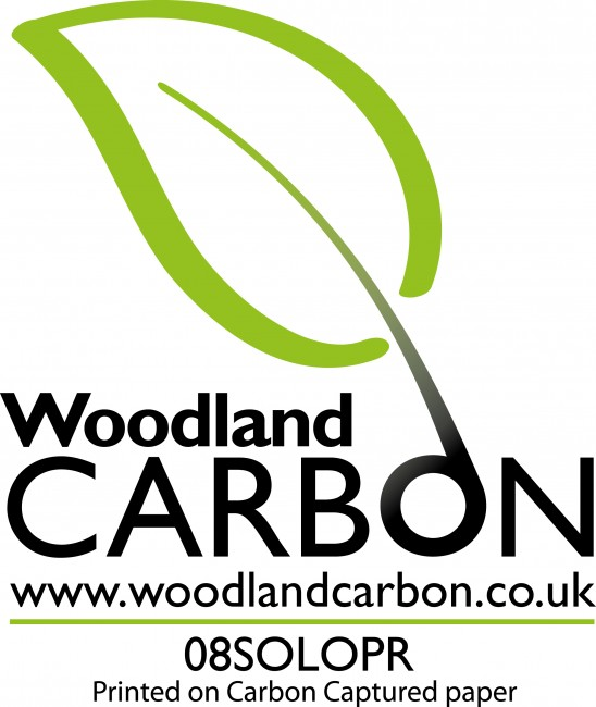 Solopress Woodland Carbon logo