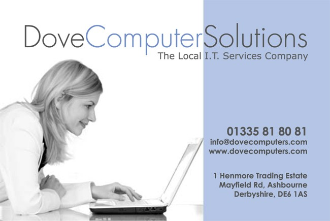 Dove Computer IT professionals business card