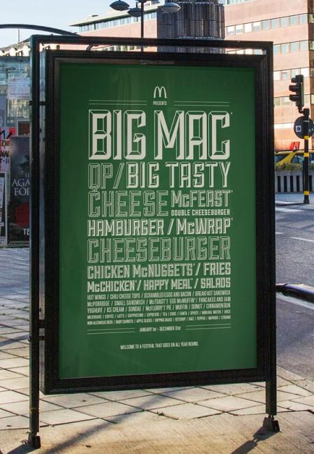 McDonalds music festival poster