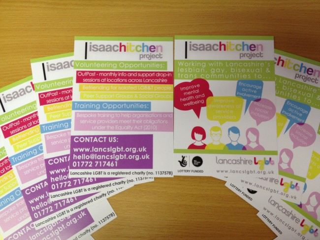 A6 flyers printed for The Isaac Hitchen Project