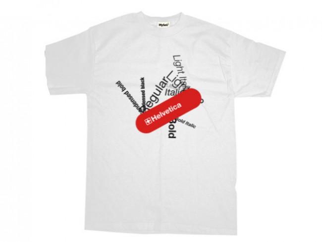 Helvetica swiss army knife T-shirt