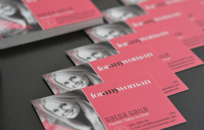 For Any Woman business cards