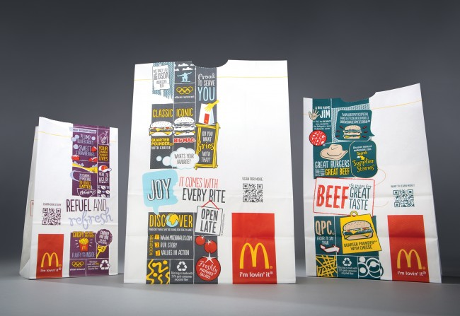McDonald's carry-out bags now incorporate QR codes
