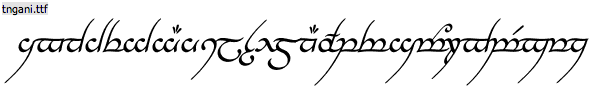 lord of the rings - one ring font
