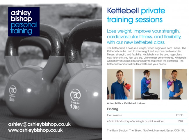 Fitness flyers from personal trainer Ashley Bishop