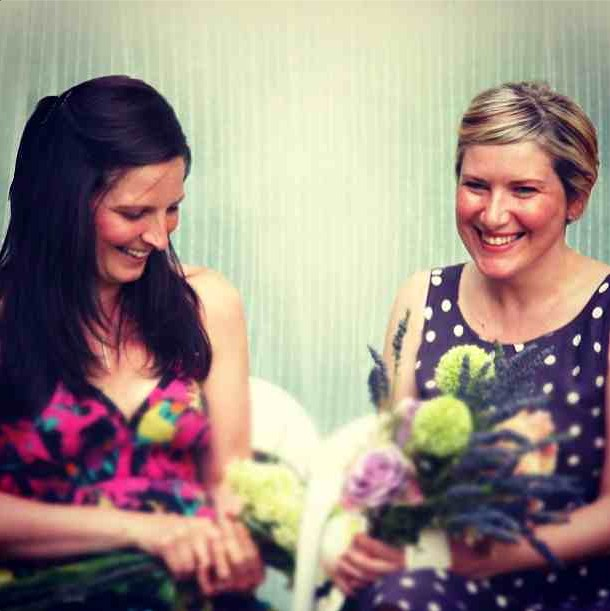 Birdsong and Blooms owners Kerrie Pearson and Rachelle Mason