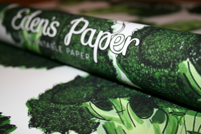 Recyclable wrapping paper - broccoli