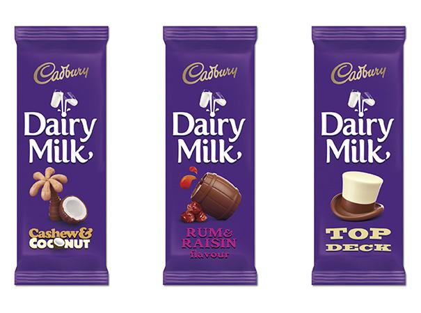 Photo image of Cadbury Dairy Milk's new packaging design