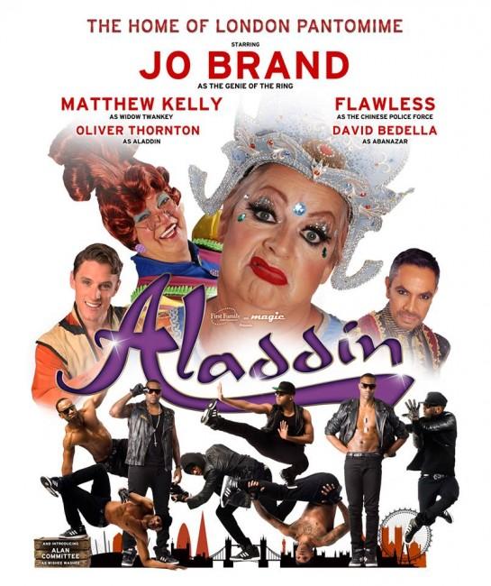 Aladdin panto posters