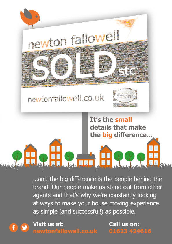 Newton Fallowell silk flyers printed by Solopress