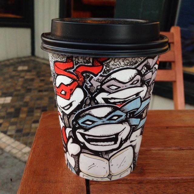 Teenage Mutant Ninja Turtles coffee cup