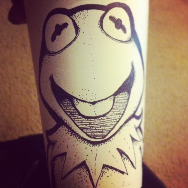 The Muppets Kermit coffee cup