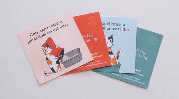 Direct marketing uses home owner's cats to get their voice heard by infusing their flyers in catnip.