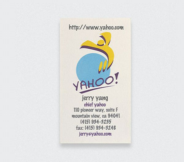 Yahoo Jerry Lang Business Card