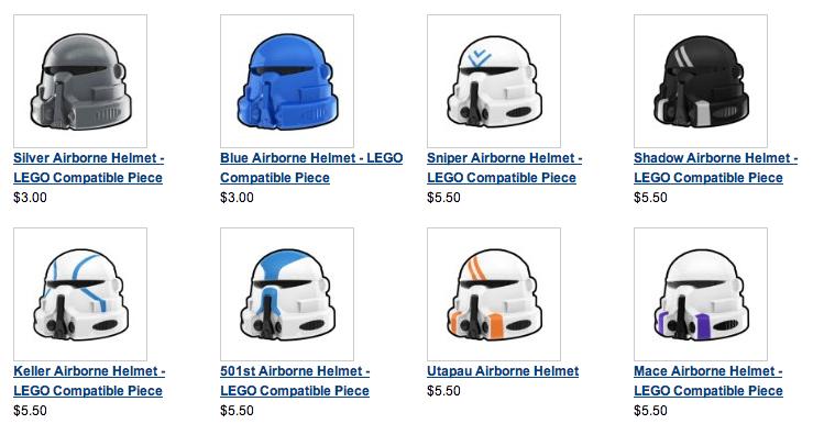 Lego Minifig Helmets