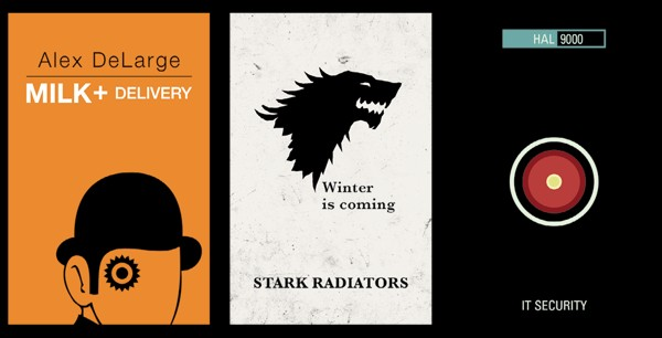 Game of Thrones pop culture business card