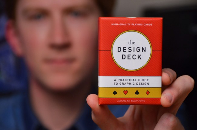 Image of a graphic designer's tips and tricks playing card pack