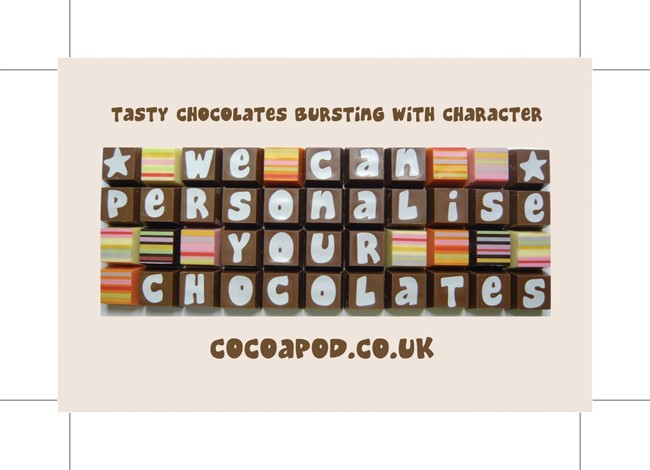 Cocoapod chocolatier business cards front