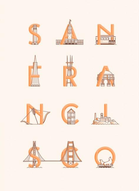 San Francisco Landmarks typeface by Matt Chalwell