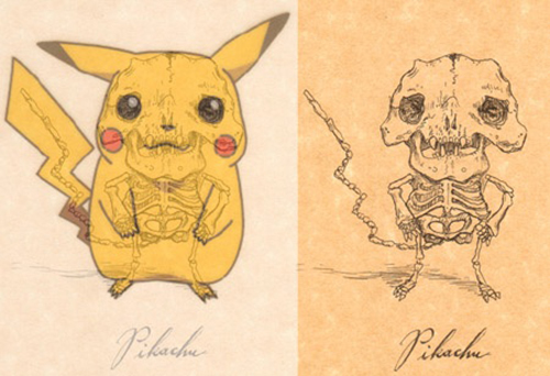 Pikachu's jagged skeleton
