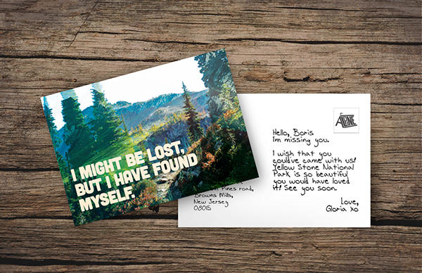 Mystical and fresh looking postcard in the wilderness.
