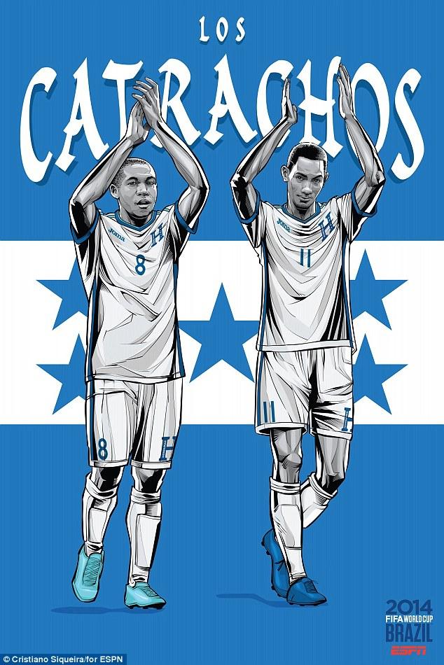 FIFA-World-Cup-2014-Honduras-Wilson-Palacois-Stoke-Midfielder-New-England-Revolution-Poster