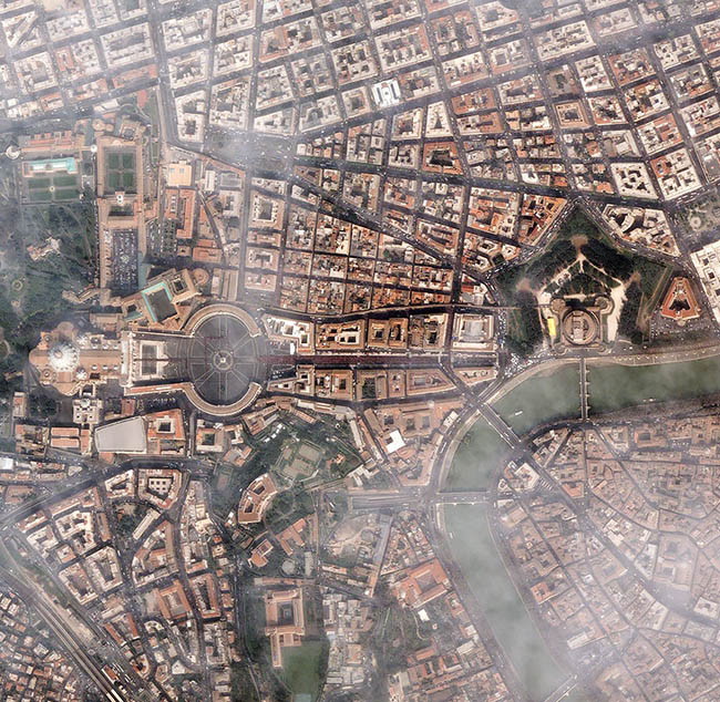 Misty bird's eye view of Vatican City by Randy P