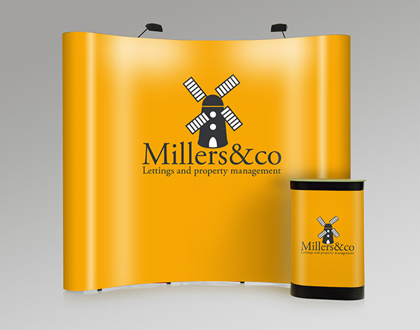 A Solopress sample exhibition stand for trade show season