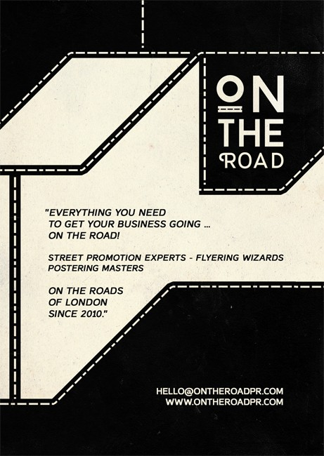 On The Road PR flyers printed at Solopress
