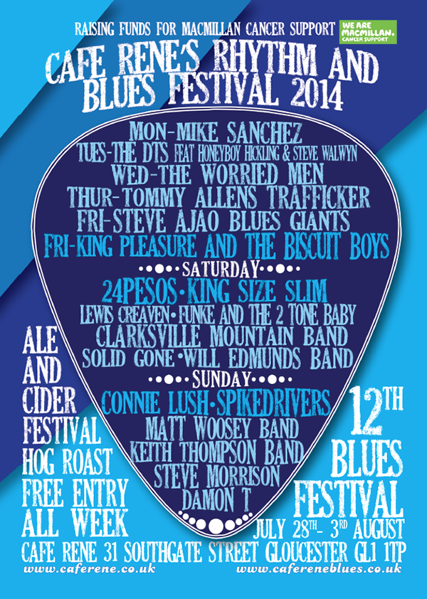 Cafe Rene Rhythm And Blues Festival brochure front cover
