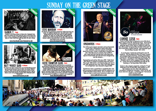 Photo of Rene Festival's printed brochure in aid of McMillan Cancer Support