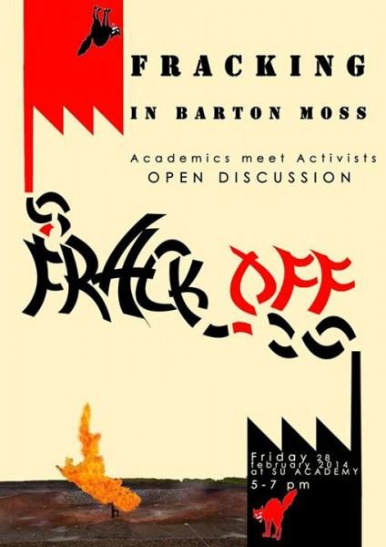 Barton Moss Frack Off meeting poster