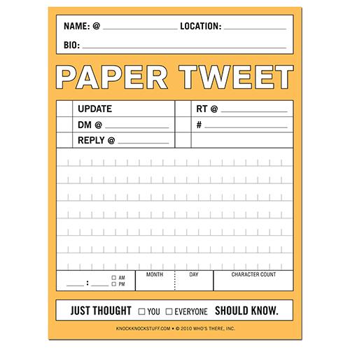 The Paper Tweet notepad