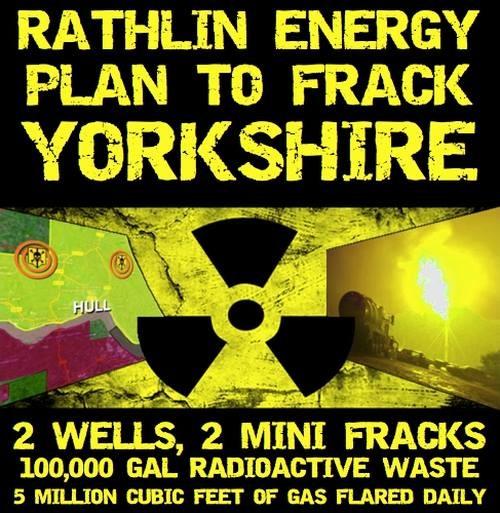 Plan to frack Yorkshire poster by Frack Off
