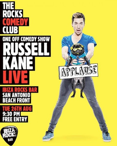 Russell Kane Live Ibiza Rocks 2014 flyer
