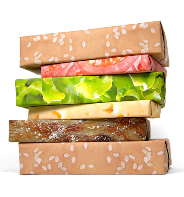 gift couture burger wrapping paper