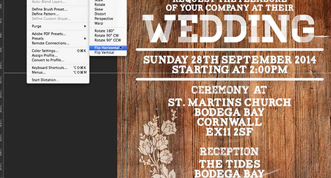 Photoshop Tutorial: Design A Rustic Wedding Invitation