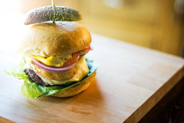 American Cheese gourmet burger by Handmade Burger Company