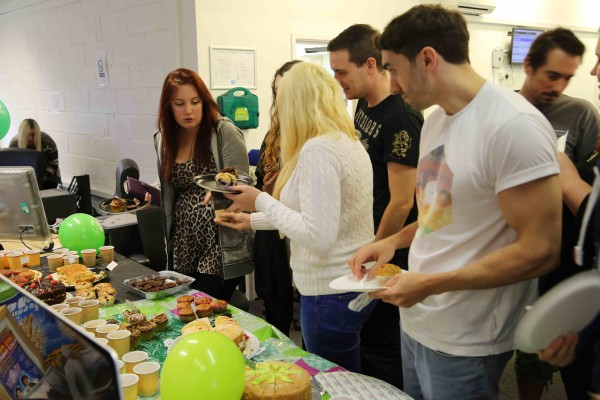 Cakes served at the solopress Macmillan coffee morning