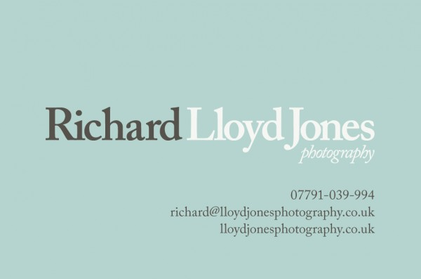 Richard Lloyd Jones photography business cards front